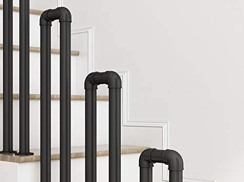 屋内屋外階段用手すり、階段工業用手すり手すり、屋外廊下庭園用階段手すり7サイズあり (Size : 55cm/1.8ft)