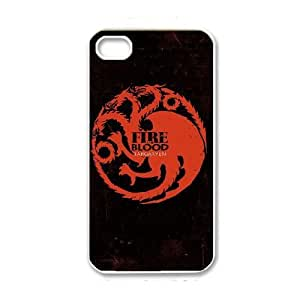 iPhone 4 4s White Cell Phone Case Game of Thrones Logo TGKG595733