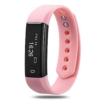 reloj Torus Pro Very Fit rastreador de actividad y Fitness con correa rosa, podó
