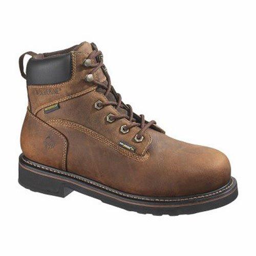 WOLVERINE WORLDWIDE - Brek Waterproof Boots, Medium Width, Brown Leather, Men's Size 14