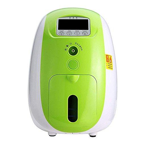YangK Portable O2 Generator Machine, 1-5L/min Home Travel Air Purifier Work Silent 110V (Green)