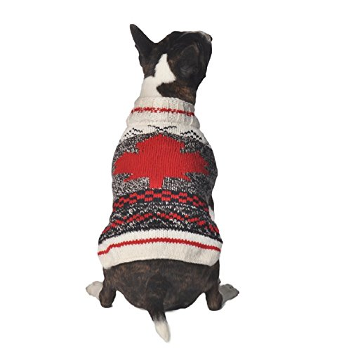 Chilly Dog Camp Maple Leaf Dog Sweater, Small