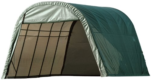Shed Round (ShelterLogic 74342 Green 12'x24'x10' Round Style Shelter)