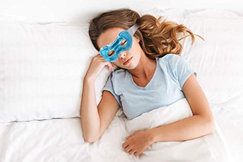 Eye See Professional Gel Eye Mask | Cold Under Eye Compress for Puffiness, Dark Circles, Clear Skin| Warm Heated Face Mask for Swelling, Redness | Spa-Quality Cool Deep Sleeping Mask