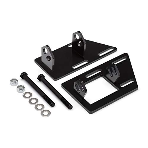 Blackpath - Fits 1983-2005 Sonoma Jimmy S-15 Blazer S-10 SBC V8 Motor Mount Swap Brackets For GMC Chevrolet 383 350 Engine Swap Mounts (Black) T6 Billet