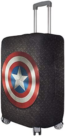 Captain America Avengers Superhero Red Travel Luggage Cover Suitcase Protector Fits 26-28 Inch Washable Baggage Covers