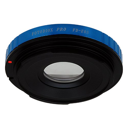 Fotodiox Pro Lens Mount Adapter - Canon FD & FL 35mm SLR lens to Canon EOS (EF, EF-S) Mount SLR Camera Body, with Built-In Aperture Control Dial