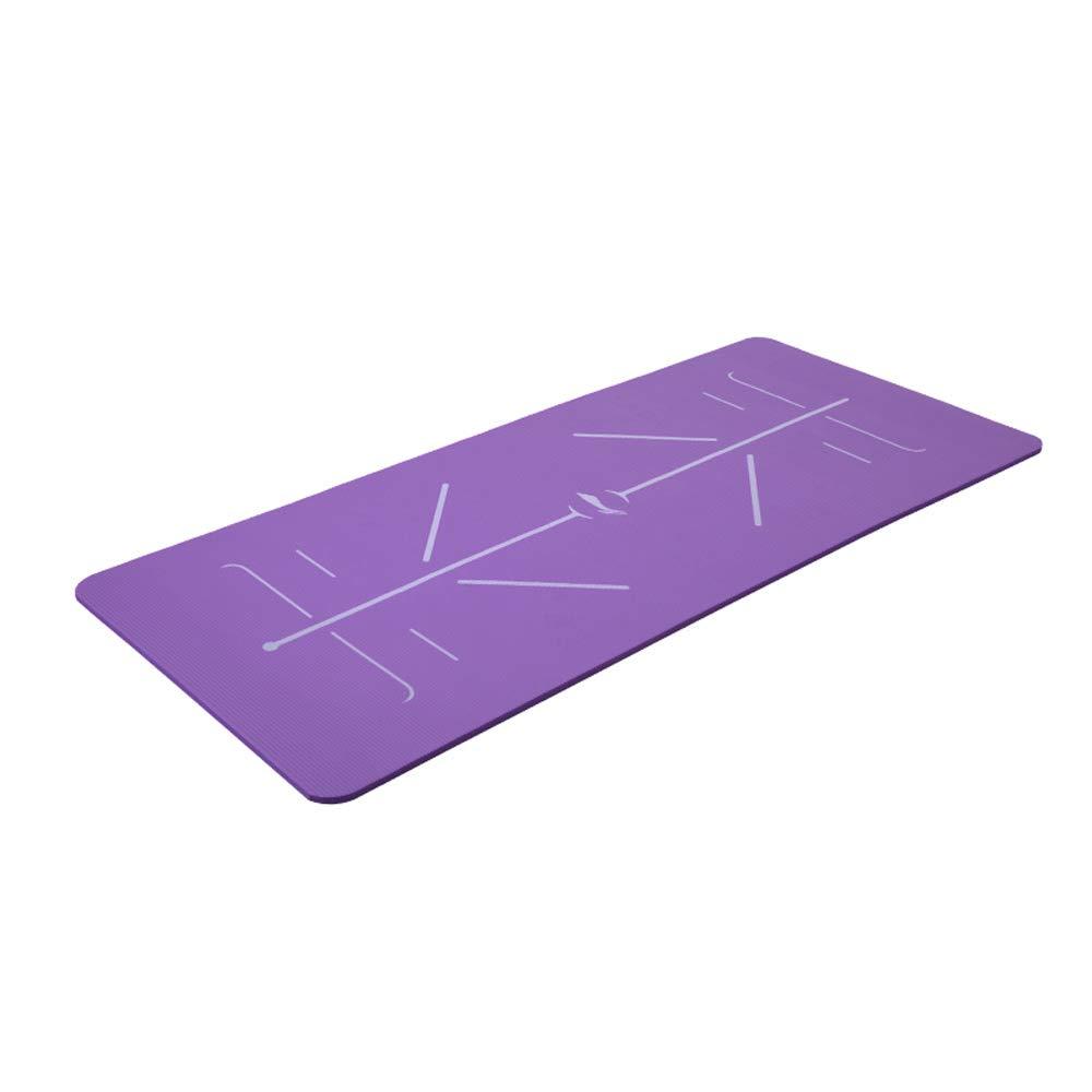 Violet Tapis de Yoga - Débutant Tapis de Fitness Anti-dérapant Lady épaissir Pilates de Yoga élargi Tapis de Sport Hommes Multi-Purpose Pad [183  61cm]