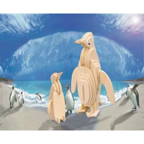Puzzled Penguin 3D Natural Wood Puzzle