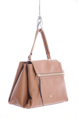 Hogan BORSA IN PELLE MARRONE, Donna.