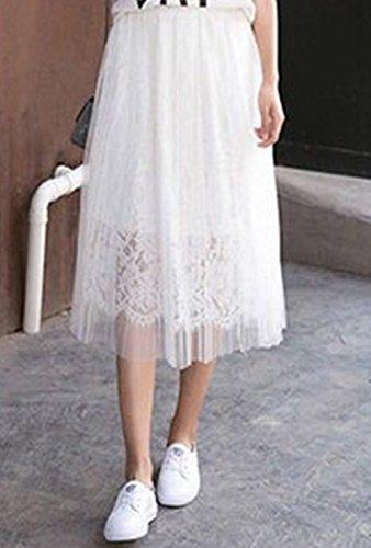 Unique Femme Jupon Wei Uni Taille Wei Jupe Blanc zoulouyou 7wOTqxHP0w