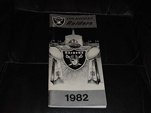 1982 LOS ANGELES RAIDERS 1ST YEAR NFL FOOTBALL MEDIA GUIDE EX-MINT