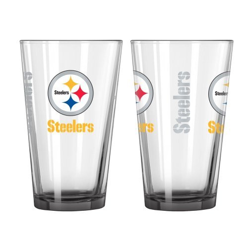 (2015 NFL Football Elite Series Beer Pints - 16 ounce Mixing Glasses, Set of 2 (Steelers))