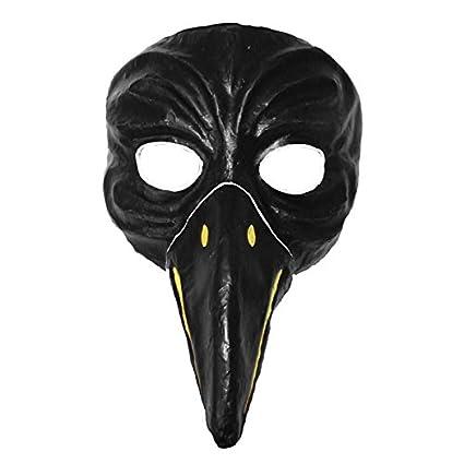 Crow cuervos Máscara Negro pintadas a mano Máscaras de Cartón Theater