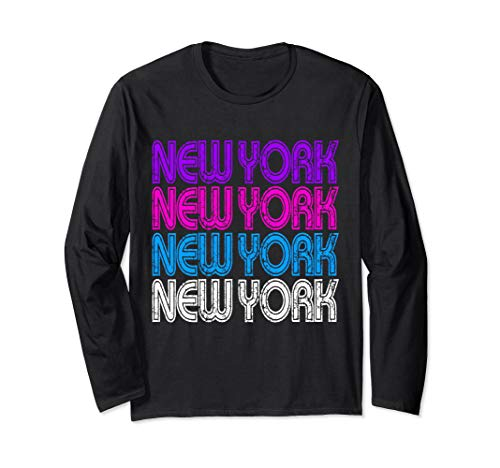 80s New York Design Retro Love the 80s Party Long Sleeve T-Shirt