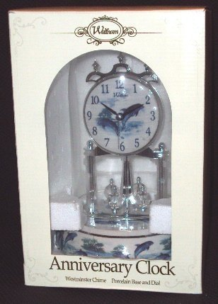 Waltham Anniversary Clock / Dolphins motif ()