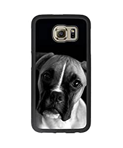 Funny Cute Dog Face Plastic and TPU Case Cover for Samsung Galaxy S6 (Laser Technology)