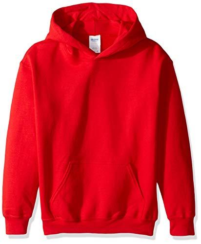 - Gildan Kids' Big Hooded Youth Sweatshirt, Red, Small