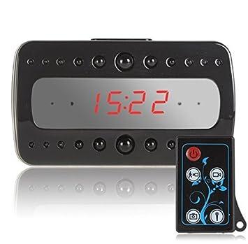 Full HD 1080p cámara espía cámara oculta con visión nocturna Mini escritorio Reloj Despertador cámara: Amazon.es: Electrónica