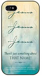 """LJF phone case iPhone 6 (4.7"""") Jesus, Jesus, Jesus. There's just something about that name - Bible verse black plastic case / Christian Verses"""