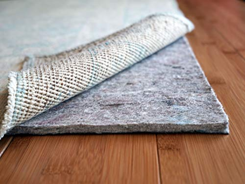 Rug Pad USA, 1/4' Thick, Felt and Rubber, 5'x8', Superior Lock- Premium Non Slip Rug Padding for Hardwood Floors