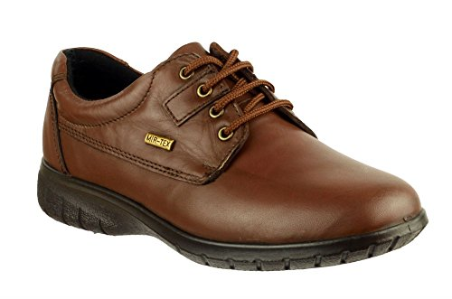 Marrone da Ruscombe Cotswold scarpe impermeabile con lacci in pelle donna Twwzdq4
