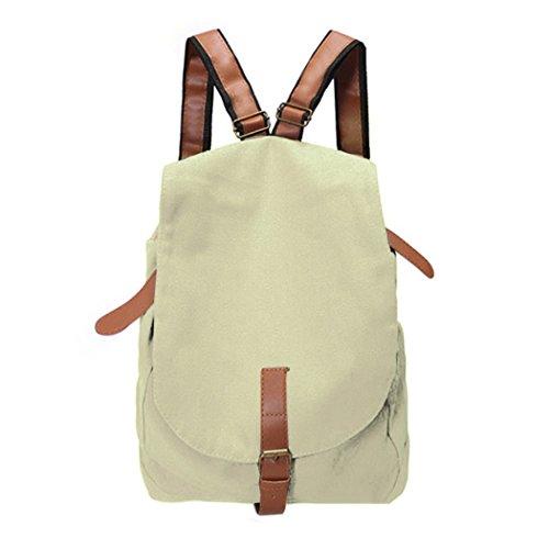 Zainetto-All4youCasualtelaVintageSatchelzainoviaggiozainettoBookbag(White)