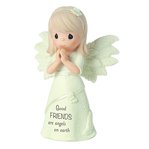 Precious Moments, Good Friends Are Angels On Earth, Bisque Porcelain Figurine, 161063 by Precious Moments
