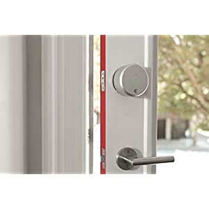 August Home ASL-02 Smart Lock, 2.20 x 3.40 x 3.40 inches, Silver