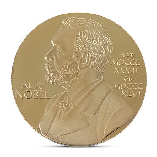 Cicitop Alfred Bernhard Nobel Commemorative Coin Collection Gift Souvenir Art Metal Commemorative Collectible Coin ()
