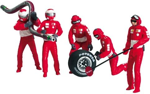 Set of 6 Meccanici Team Martini Racing Pit Stop Crew Figurines 1:43 Model