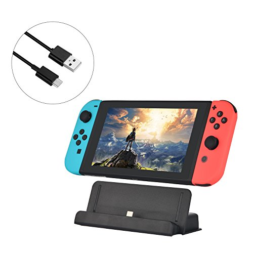Nintendo Switch Charging Station, USB Type C Charging Dock Station Cradle Stand for Nintendo Switch