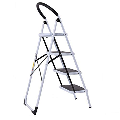 MY HOPE Ladder Fordable Heavy Duty Supported load 330 Lbs 4 Step Industrial Lightweight. by MY HOPE (Image #1)