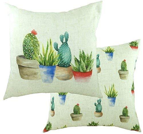 Funda de cojín de lujo para cactus, diseño de cactus, color ...