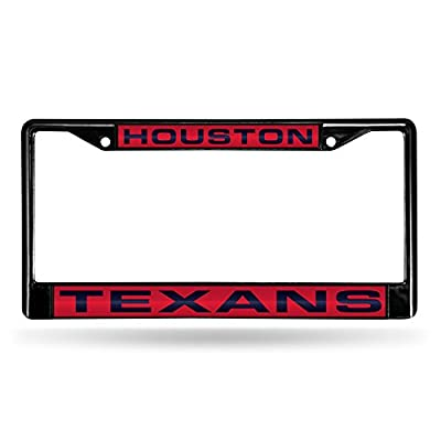NFL Rico Industries Laser Cut Inlaid Standard Chrome License Plate Frame, Houston Texans : Sports & Outdoors