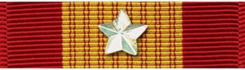 [해외]Vietnam Gallantry Cross Ribbon With Silver Star / Vietnam Gallantry Cross Ribbon With Silver Star