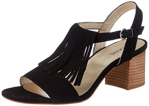 Marc Shoes Celine - Sandalias con cuña Mujer Schwarz (Schwarz)