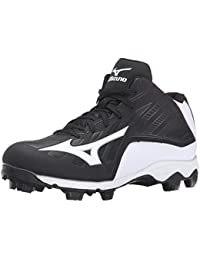 9 Spike ADV YTH FRHSE8 MD BK-WH Youth Molded Cleat (Little Kid/Big Kid)