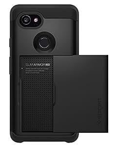 Spigen Slim Armor CS Google Pixel 2 XL Case with Slim Dual Layer Wallet Design and Card Slot Holder for Google Pixel 2 XL (2017) - Black