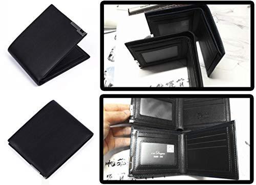 Slim Wallet 7 Gioco Portamonete In Persona Sintetica Pelle Cosstars Nero 1 Uomo Borsellino Piccolo Sottile Portafoglio xATBpcfw
