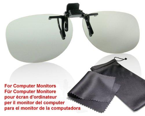 3D Brillen Monitor Clip - Aufsatz für Brillenträger - passiv, kompatibel mit LG Cinema 3D MONITORE (keine Fernseher!) bitte kompatibilitätsliste beachten - mit Brillenbeutel und Putztuch