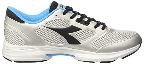 Diadora Shape 7, Zapatos para Correr Unisex Adulto Gris (Argento/nero)