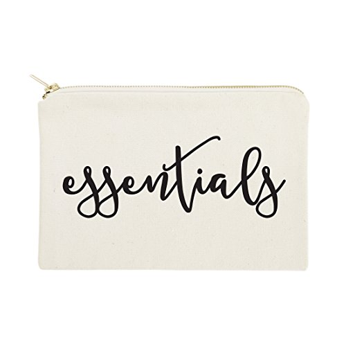 (The Cotton & Canvas Co. Essentials Cosmetic Bag and Travel Make Up Pouch)