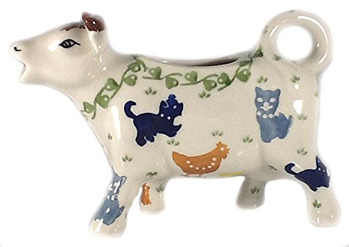 - Polish Pottery Cow Creamer Pitcher On the Farm