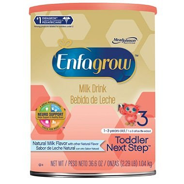 Enfagrow Toddler Next Step Milk Drink Powder, Natural Milk Flavor (36.6 oz.) (pack of 6) by Enfagrow