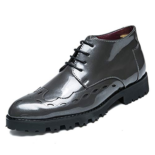 vernice Dimensione Xiaojuan Business brogue Grigio con Color uomo shoes Oxford media altezza scarpe 39 EU da Scarpe stile Nero nuovo a in Uomo Pelle punta Casual traspirante rqfrTwxg