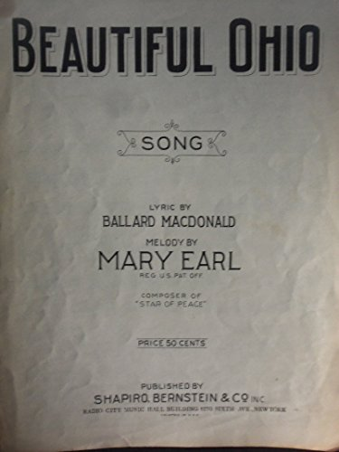 Earl Sheet Music - Beautiful Ohio - Vintage Sheet Music
