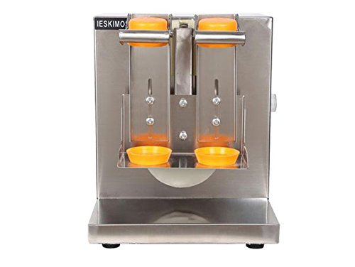 Double-frame Stainless Steel Auto Beverage Bubble Tea Milk Shaking Machine Bubble Tea Milk Shaker Including 2 Cups 110V Shaker Machine For Drinks