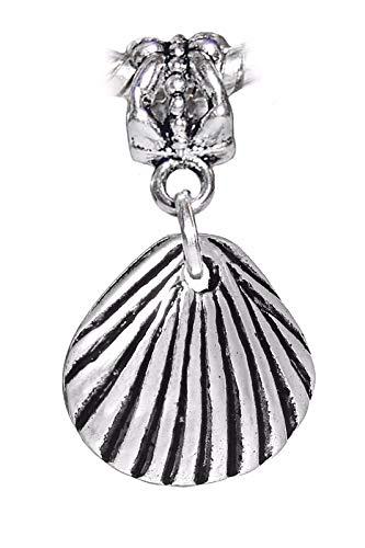 - Scallop Shell Seashell Beach Ocean Island Dangle Charm for European Bracelets Crafting Key Chain Bracelet Necklace Jewelry Accessories Pendants