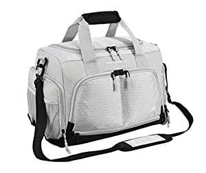 """Ultimate Gym Bag 2.0: The Durable Crowdsource Designed Duffel Bag with 10 Optimal Compartments Including Water Resistant Pouch (Grey, Small (15""""))"""